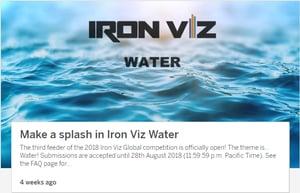 The theme for the third 2018 Iron Viz feeder, water.
