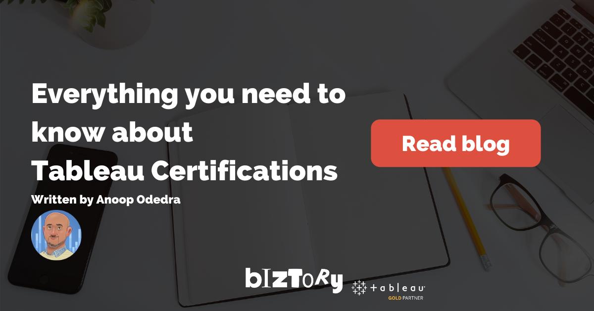 Biztory Blog - Tableau Certifications