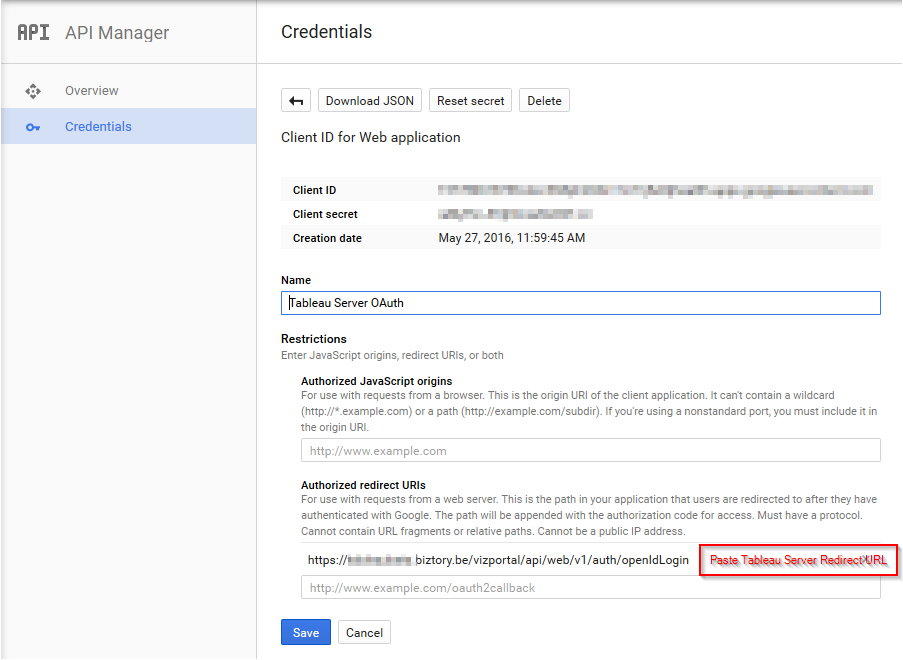 ClientID Redirect URL