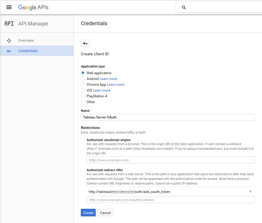 Create client ID - BetaOpenID