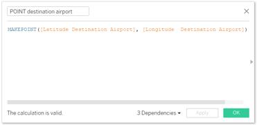 POINT destination airport