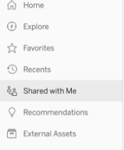 """New feature tableau 2020.3 - New """"Shared with me"""" tab"""