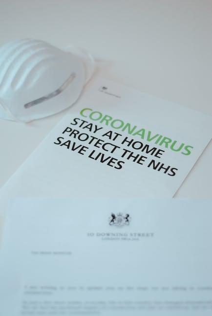 Coronavirus communications from UK Government. Photo taken from Unsplash.