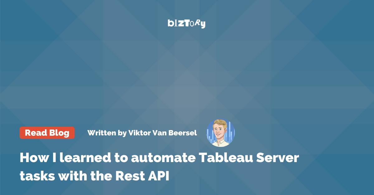 Automate Tableau Server with REST API