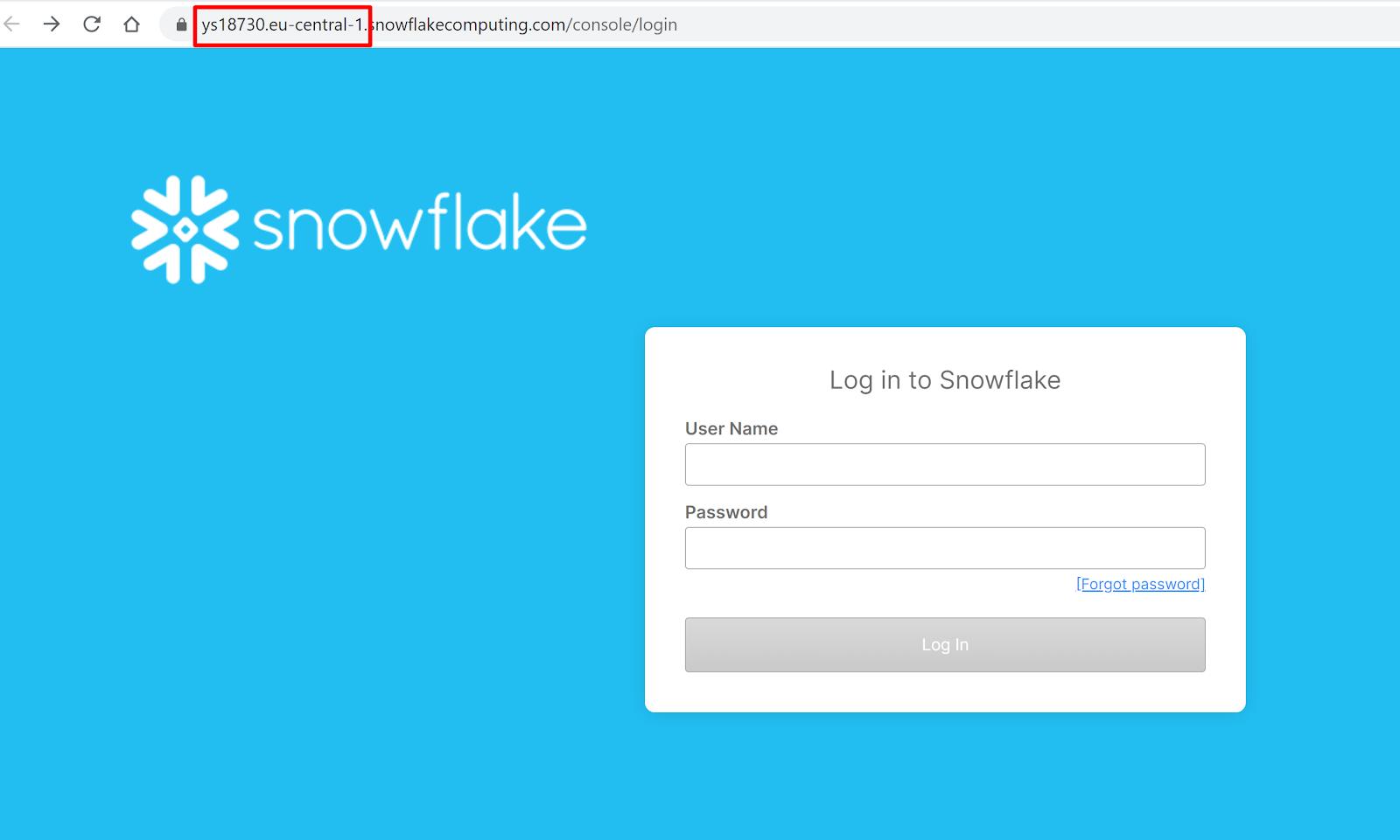 Snowflake URL