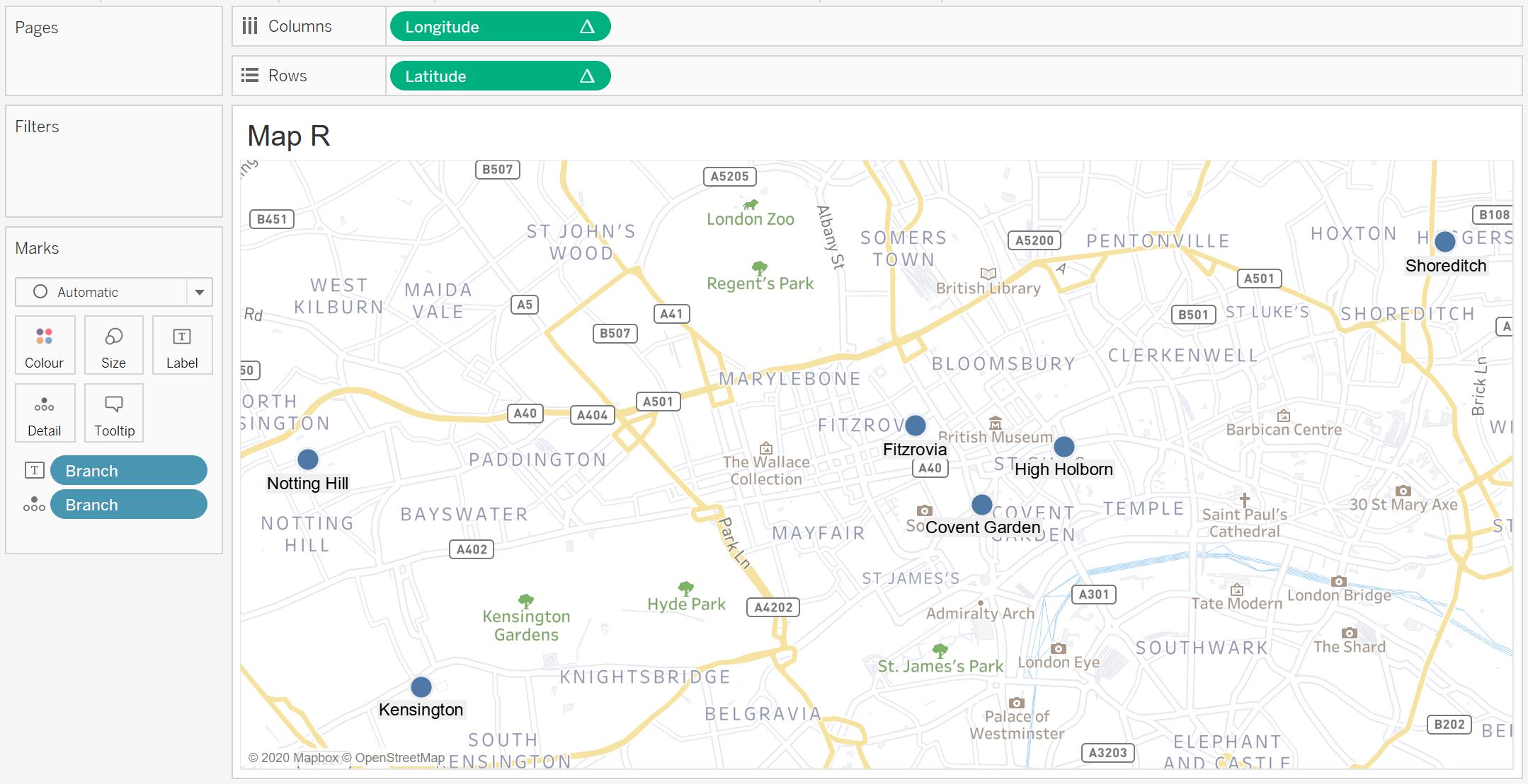 Geocoding Tableau - Map