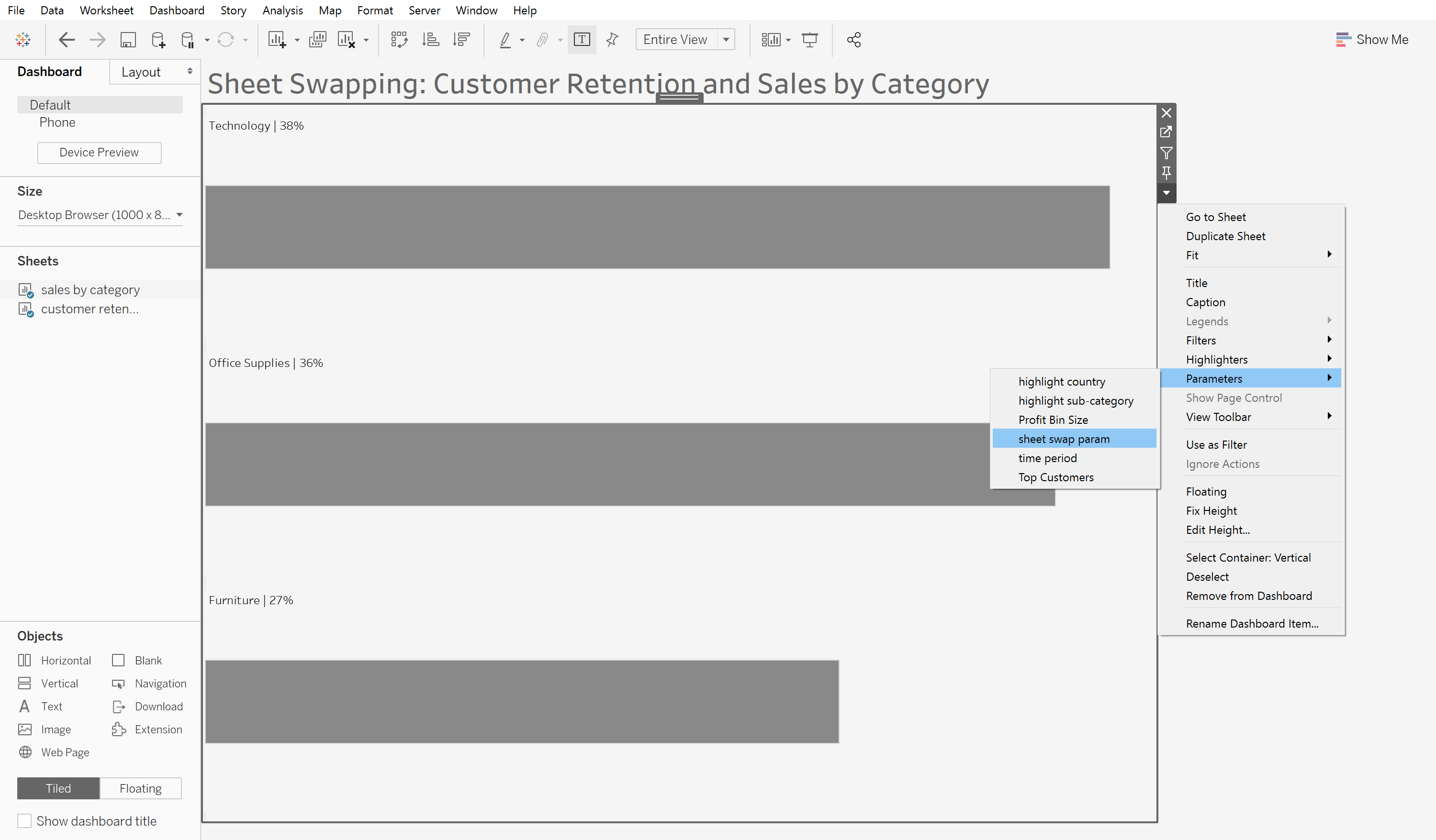Sheet Swapping in Tableau