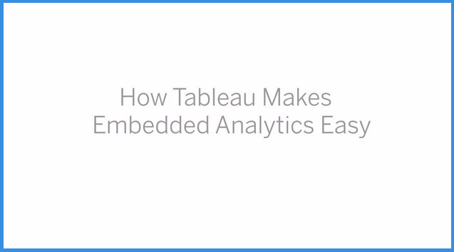 How does Embedded analytics with Tableau work?