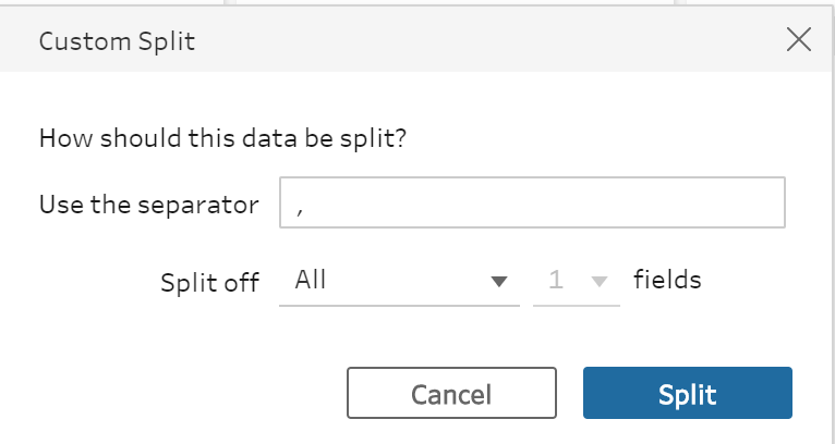 Custom Split in Tableau Prep
