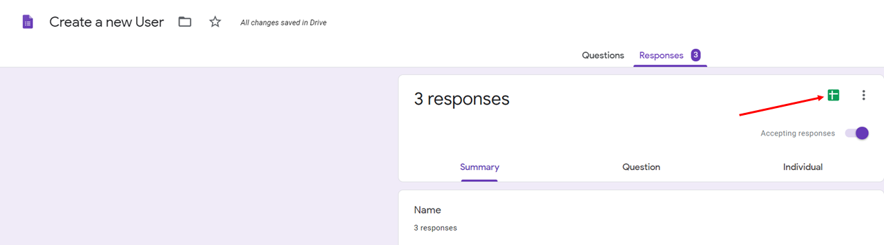 Where to find responses for Google Form