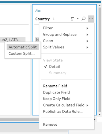 Split column in Tableau Prep